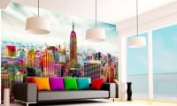 Change your apartment's decor with a wall mural